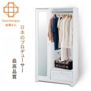 【Sato】ANRI小日子收納鏡櫃‧幅80cm (樸素白)