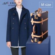 【MOIERG】Bonjour復古背包客 vulcanized fibre trunk (M-21吋) Navy