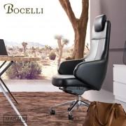 【BOCELLI】MARAIS瑪黑風尚高背辦公椅(義大利牛皮)經典黑