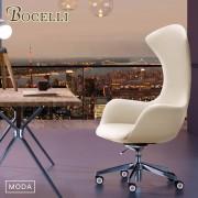 【BOCELLI】MODA風尚高背辦公椅(義大利牛皮)優雅米