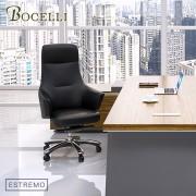 【BOCELLI】ESTREMO極致風尚高背辦公椅(義大利牛皮)經典黑