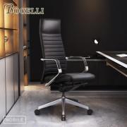 【BOCELLI】NOBILE貴族風尚高背辦公椅(義大利牛皮)經典黑