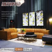 【ARTOPI】Fibonacci斐波那契牛皮L型沙發