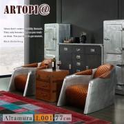 【ARTOPI】Altamura阿爾塔穆拉工業風牛皮單人沙發