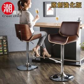【C'est Chic】Claude克勞德吧台椅(皮質)_棕色